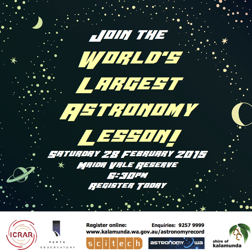 Worlds Largest Astronomy Lesson World Record Attempt